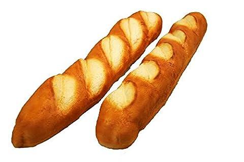 Handgemachte & Realistische Lebensmittel Attrappe - Gebäck: Großes Französisches Baguette - Länge 54cm / Höhe 6cm / Breite 8cm