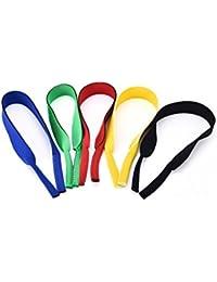 Teemico - Juego de 5 correas elásticas de neopreno para gafas y correa de sujeción de gafas de sol, cordón flotante para las gafas., mixcolor