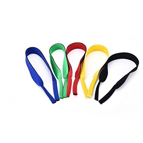 Teemico elastische Neopren-Brillenbänder für Brillen und Sonnenbrillen, 5 Stück, mixcolor