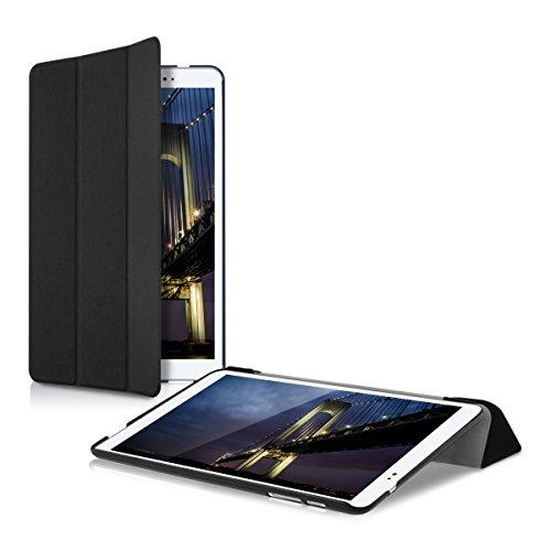 kwmobile Funda para Huawei MediaPad T1 10 - Carcasa Inteligente de [Cuero sintético] con [Soporte] y Cierre de Libro para Tablet