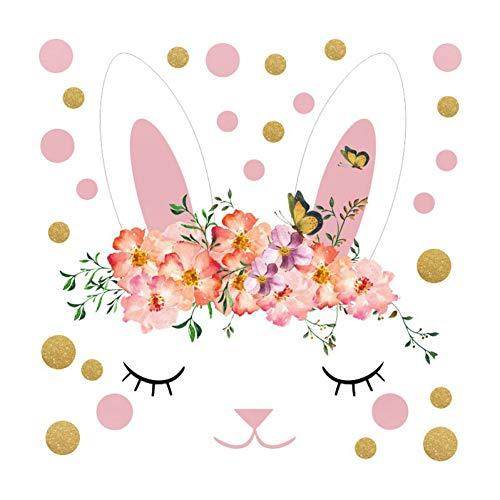 LELTWS Wandaufkleber Balleenshiny PVC Mini Dots Kaninchen Flugzeug Wand Aufkleber Kreative Baby Kinder Zimmer Wandbild Decals Treppe Schrank Graffiti-Wand Papier - Mini Baby Schrank
