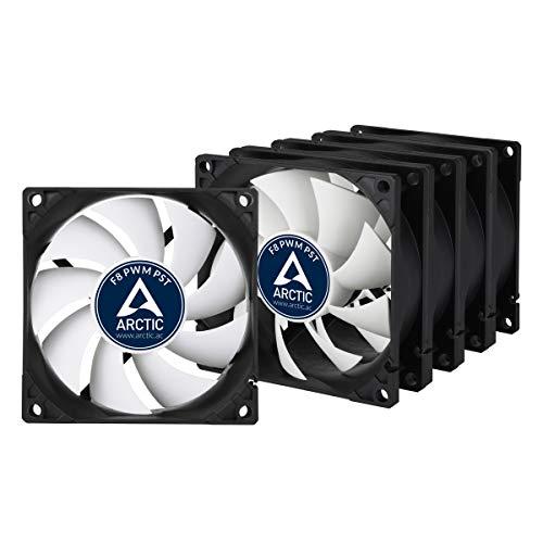 ARCTIC F8 PWM PST Value Pack - 80mm, 5 Ventilateurs Haute Performance, Ventilateur Boitier, Refroidisseur Silencieux pour Unité Centrale, Roulement à Fluide Dynamique, Fonction PST, 300-2000 RPM