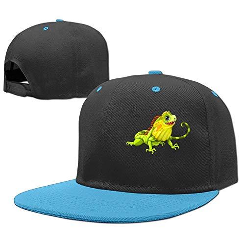 Xukmefat Casquettes Hip Hop Reptile Iguane - pour Casquette de Baseball Coton Réglable Boy-Girl 0861