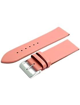Feines Kalb Leder Uhrenarmband Band 26mm Rosa mit Chrom (Silber Farbe) Schnalle. KOSTENLOSE Spring Bars (Armbanduhr...