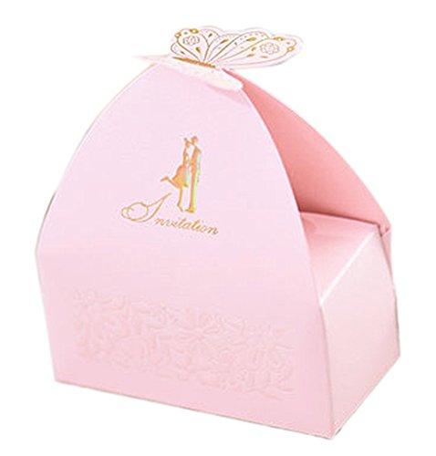 Baby-Dusche Dekorationen Hochzeitsfestbevorzugung Boxen Schmetterling Pralinenschachtel 10 Stück personifizierte (Bonbons oder Pralinen nicht enthalten) ()