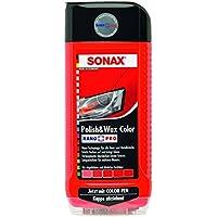 Sonax 02964000-544 Polish & Wax Color Nanopro Cera para Coche, Rojo, 500 ml