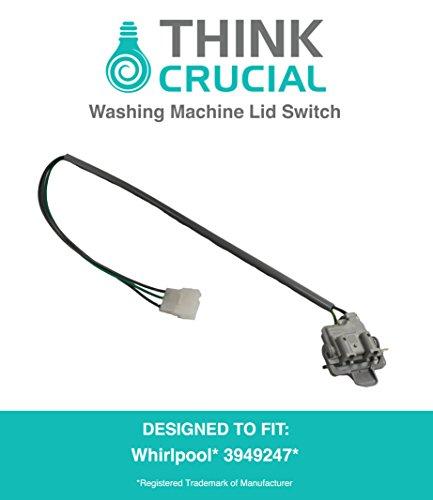 Ersatz für Whirlpool Waschmaschine Deckel Schalter passend für Amana, Maytag, Kenmore, kompatibel mit Teil # 3949247, 3949240, 3949239, 3949237, von Think Crucial (Whirlpool-bank)