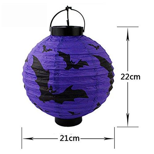8a68e83752758a Günstig 3 Stück Halloween Deko Laternen Lampion Mit LED Licht Kürbis ...