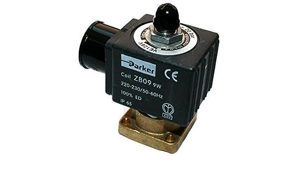 solenoid valve parker ve-128 3-ways coil 230 VAC  for 10 bar