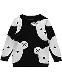 Jersey en tricot con tachuelas y strass ,Envío Gratis suéter chaqueta de punto para bebé ,Yannerr niños chico caliente Impresión del oso cardigan tops ropa