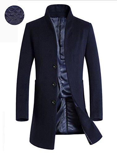 Vogstyle Uomo Sottile Caloroso Cappotto Invernale Di Lana Trapuntato Blu M.  IMMAGINI. Click sull immagine per ingrandirla f6f2efd915b