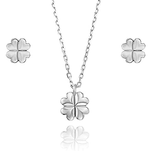 Lilly Marie young women's jewellery set 925silver four leaf clover pendant jewellery bags Friendship Gifts for best