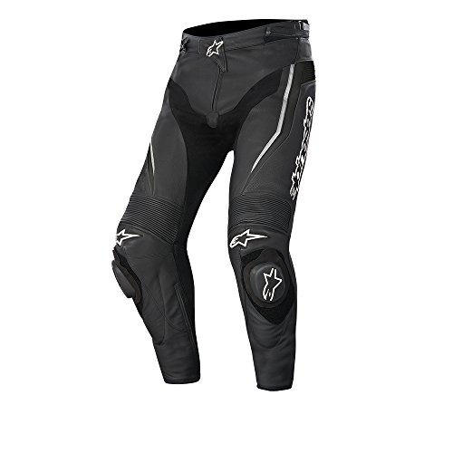 Alpinestars Track Leather Motorcycle Trousers Black EU 46