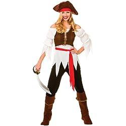 Disfraz de pirata para mujer, talla S 38-40.