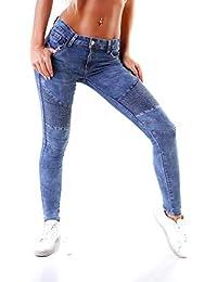 64422fa6d0b7 OSAB-Fashion Damen Jeans Röhrenjeans Hose Stretch-Denim Skinny Röhre  Damenjeans Slimfit