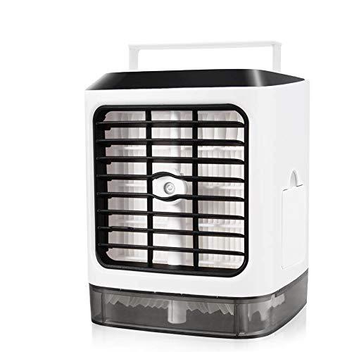 Mini Condizionatori a Evaporazione, Mini Condizionatore d'Aria Portatile 3 in 1:Raffreddamento, Spray umidificante, Purifica l'Aria. Leggerissimo, lo porti Dove Vuoi, USB Raffreddatore D'aria - Bianco