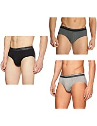 Jockey Men's Cotton Brief (Pack of 3)(Colors & Print May Vary)