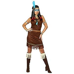 WIDMANN 00211 Disfraz de india para mujer, marrón, S