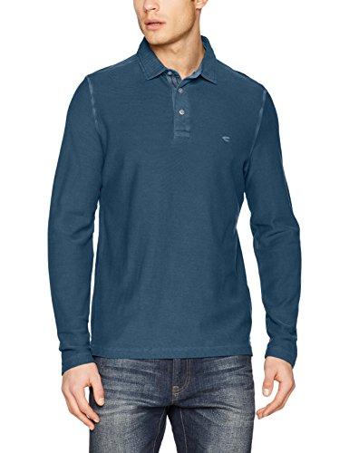 camel active Herren Poloshirt Blau (Steel-Blue 19)