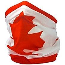 BANDERA DE CANADÁ / BANDERA CANADIENSE / HOJA DE ARCE / l'Unifolié - RUFFNEK® Calientacuellos / Gorro Multifuncional para hombre, mujer y niño