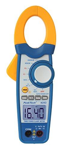 PeakTech True RMS Stromzange 1000A AC DC und Digital Multimeter 4000 Counts mit Durchgangsprüfer - CAT III 600V, 1 Stück, P 1640 Digital-multimeter Cat