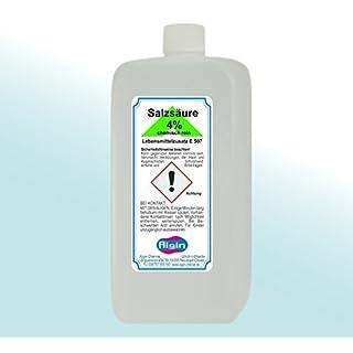 Algin Salzsäure 4% chemisch Rein 1 Liter - Lebensmittelzusatz E 507