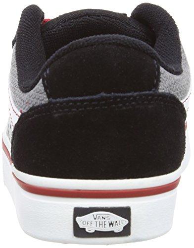 Vans Y Transistor, Baskets mode mixte enfant Noir (Black/Red)