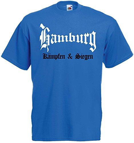 world-of-shirt Herren T-Shirt Hamburg kämpfen und siegen