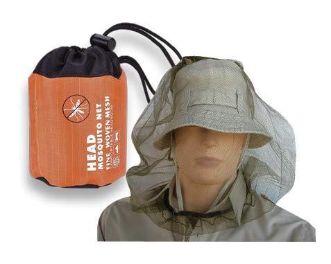 Mosquitera Cabeza con Bolsa Malla para Mosquitos Abejas Insectos Apicultura Proteccion Facial Camping, Supervivencia, Acampada, Pesca Albainox 33950 + Portabotellas de regalo