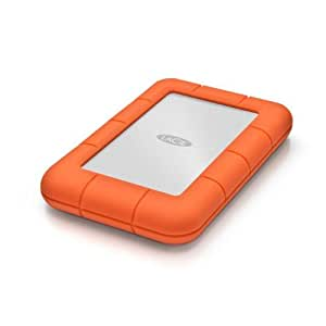 LaCie Rugged Mini 500GB externe Festplatte (6,4 cm (2,5 Zoll), 5400rpm, USB 3.0) silber/orange