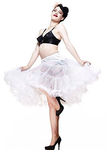 Petticoat - Unterrock weiß für Kleider Röcke Kostüme Rockabilly 50er 60er Jahre Mode Hell Bunny - (Up 60er Pin Jahre Girl Kostüme)