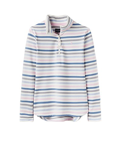 Joules Fairdale Womens Zip Neck Sweatshirt - Blue/Pink Stripe