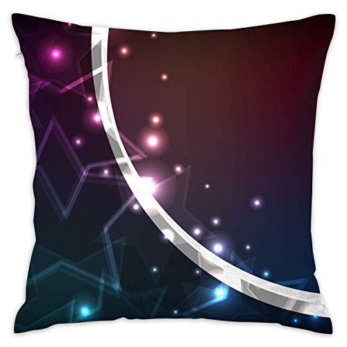 EJjheadband Colored Shiny Stars Lines Pillowcase - Zippered Pillow Case Cover, Pillow Protector, Throw Pillow Cover - Standard Size 18x18 Inch, Double-Sided Print Pillowcase Covers Line-palm Protector