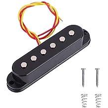 Dilwe Pastilla de Guitarra, Guitarra Electrica Bobina Simple Sonido Pickup Transductor de Audio para Parte
