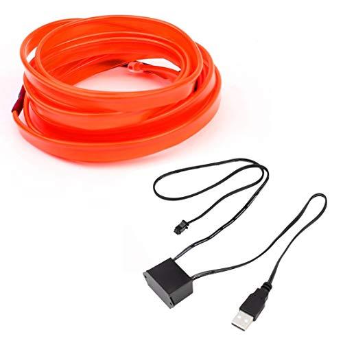 LED EL Drähte, 3V / 12V-Controller USB-Laufwerk Auto-Innenraum-Lichtleiste Glühend Tanz-Partei-Kostüm-Dekoration-Licht für Auto-Tür/Console / Seat/Armaturenbrett ()