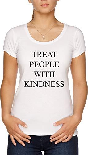 Treat People with Kindness Damen T-Shirt Weiß