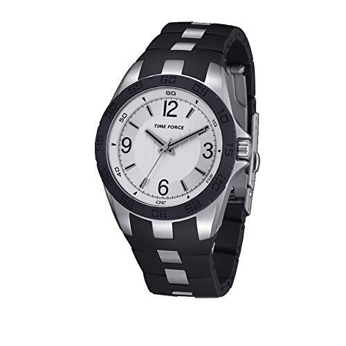 Time Force Reloj Analógico para Hombre de Cuarzo con Correa en Caucho TF4036L02
