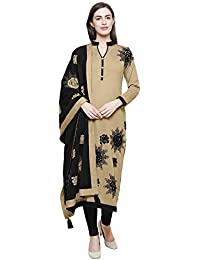 0f16a8db03b Rebecca Camel Woolen Embroidered Ethnic Wear Kurta With Stole For Women