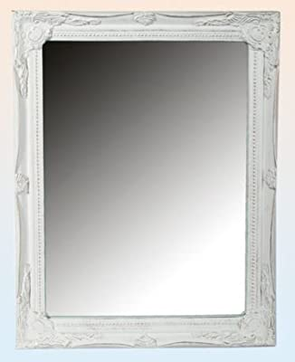 White Ornate Wall Mirror French Antique Shabby Chic - cheap UK light store.