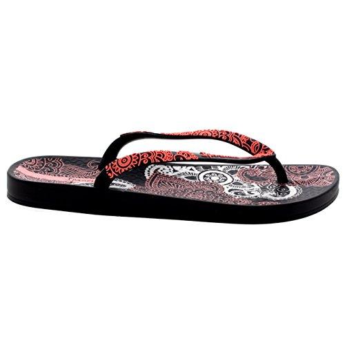 Damen Ipanema Lovely III Strand Sandalen Schlüpfen Urlaub Flip Flops Schwarz