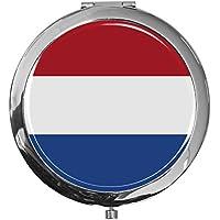 """metALUm - Extragroße Pillendose in runder Form""""Flagge Niederlande"""" preisvergleich bei billige-tabletten.eu"""