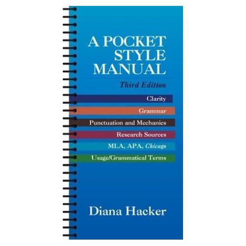 A Pocket Style Manual by Diana Hacker (2000-01-30)