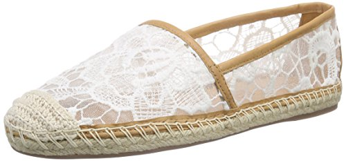 Buffalo 125508 Renda Vegetal, Espadrilles femme Blanc - Weiß (WHITE468)