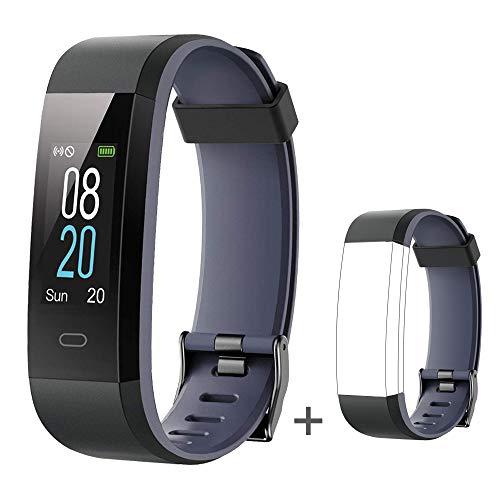 YAMAY Fitness Tracker,Smartwatch Wasserdicht IP68 Fitness Armband mit Pulsmesser Farbbildschirm Aktivitätstracker Pulsuhr Schrittzaehler Uhr Smart Watch Fitness Uhr für Damen Herren mit Ersatzriemen