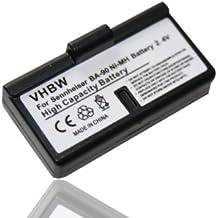 Batería Ni-MH vhbw 60mAh (2.4V) para auriculares Headset Sennheiser HDI 1029-PLL8, HDI 1029-PLL16, HDI 1030 como BA-90, BA90, E60, E-60, E90, E-90.