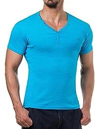 Young and Rich - T shirt homme fashion T shirt 873 bleu turquoise - Bleu