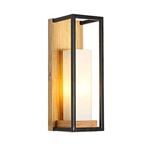 MTXLtd Wandfluter Lichter Lampen Lichter Scheinwerfer Beleuchtung Warm Glas Schatten Zeitgenössische Holz Kerzenständer Wand Laterne Gang Korridor Wand - Zeitgenössische-glas-wand