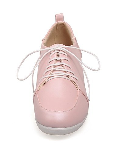 ZQ Scarpe Donna - Stringate - Casual - Punta arrotondata - Piatto - Finta pelle - Blu / Rosa / Bianco , pink-us8 / eu39 / uk6 / cn39 , pink-us8 / eu39 / uk6 / cn39 blue-us5.5 / eu36 / uk3.5 / cn35