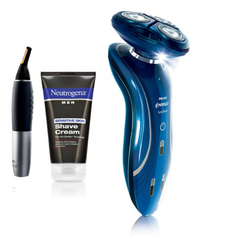 Philips Norelco 1150X/40Hp Sensotouch 2D Electric Nose, Ear & Beard Trimmer & Neutrogena Shave Cream