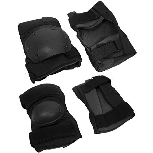 Royal Kit Knieschützer + Ellenbogenschützer Long Airsoft, schwarz -